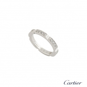 Cartier White Gold Maillon Panthere Ring 0.35ct F/VS+ B4080149